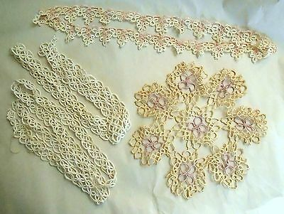TATTED TRIM Tatted Pillow Case Trim & TATTED DOILY