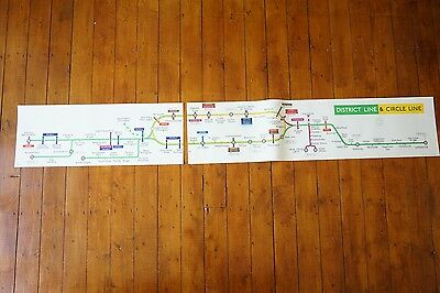 1977 District & Circle Line Tube Carriage Map Super Rare VGC