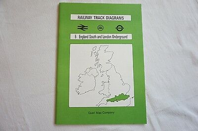 Railway Track Diagrams Book No. 5 England South Underground Quail Map Company