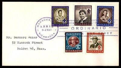 April 9, 1957 Nicaragua Managua Boy Scouts First-Day Cover