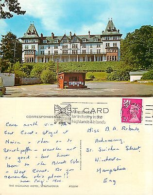 a1451 Highland Hotel, Strathpeffer Ross & Cromarty Scotland postcard posted 1972