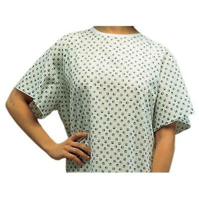 Mabis 532-8030-6800 Convalescent Gown with Tape Ties Print