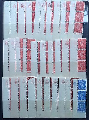 GB George VI Mint Control & Cylinder Number Strips