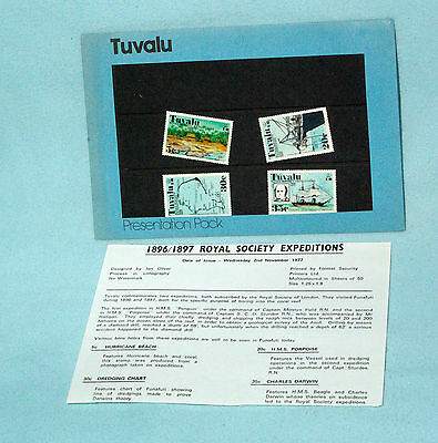 Tuvalu - 1977 - Royal Society Expeditions - Spec Post Stmp Iss Off Pres Pack