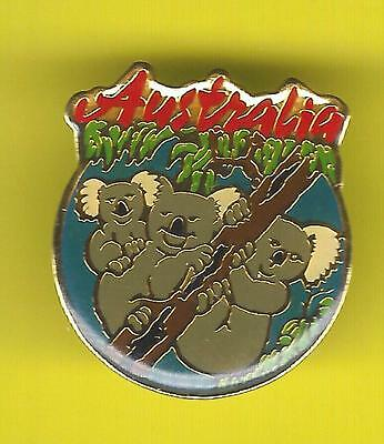 AUSTRALIA KOALA BEAR LAPEL PIN !  kangaroo Uluru Dream Time