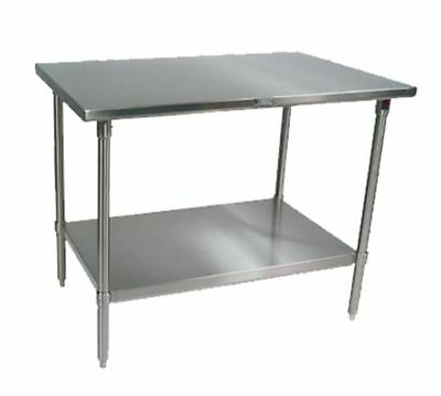 "Work Table,  40"" - 48"", Stainless Steel Top, John Boos ST6-2448SSK-X"