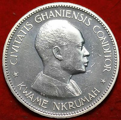 Uncirculated 1958 Ghana 10 Shillings Silver Foreign Coin Free S/H