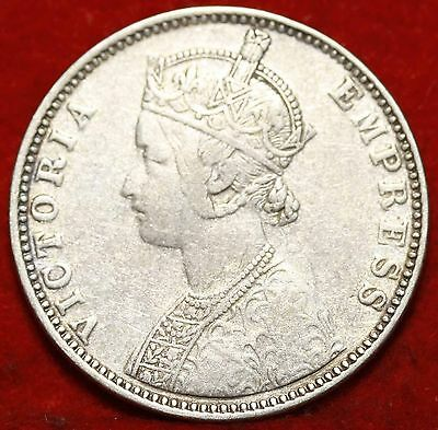 1900 India 1 Rupee Silver Foreign Coin Free S/H