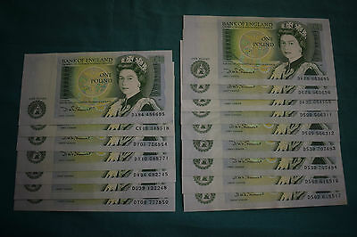 16 x Somerset £1 One Pound Banknotes - mostly nice, some lil ol sequences.