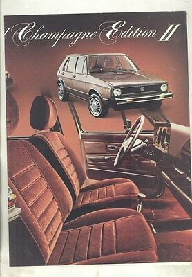 1978 Volkswagen Champagne II Brochure Rabbit Scirocco Dasher Beetle Bus my6874