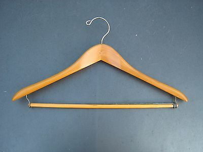 SHINY WOODEN MAPLE  Clothes Hanger  MARKED SETWELL  VERY SPECIAL VINTAGE
