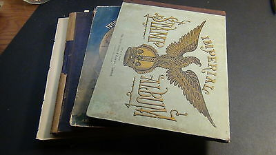 WW  stamp collection in 4 very old albums, Imperial, Captain Tim, etc.