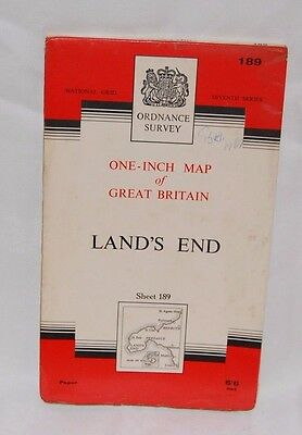 One Inch Ordnance Survey map of Land's End sheet 189 - 1961 T/B2