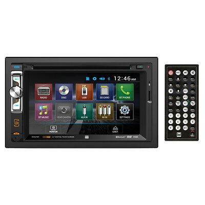 "New PLBT72G 7"" 1-Din Motorized Touch DVD/CD/USB/Aux-In Player W/ Bluetooth & GPS"
