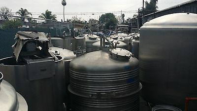 1000 Gal. CE HOWARD / SCHWEITZER Stainless Steel Zone Jacketed Tanks (9 avail.)