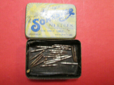 Old  Songster Gramophone Record Needles Made In England Sheffield Steel
