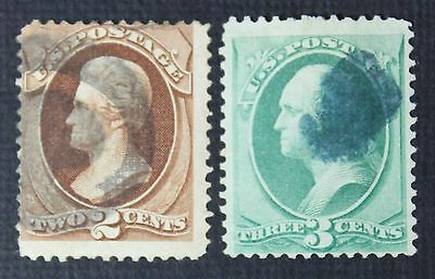 CKStamps: US Stamps Collection Scott#135 136 (2) Used CV$112.50