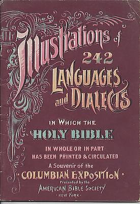 Illustrations Of 242 Languages In Which The Bible Is Printed,columbian Expo,1893
