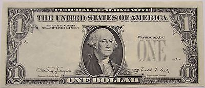 ERROR 1988-A $1 Bill US Banknote - Missing 3rd Printing No Serial Numbers/Seals