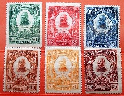 1904 Haiti PRESIDENT PEDRO NORD ALEXIS ISSUE MNG STAMPS Yv: 84/89