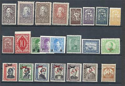 Yugoslavia 1919 and up Plane oveprints old variety MLH MH