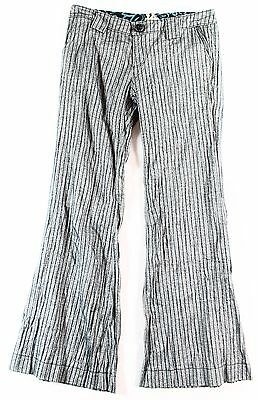 Miss Me NEW Dark Blue Girl's Size 14 Seamed Striped Boot-Cut Pants #482 DEAL