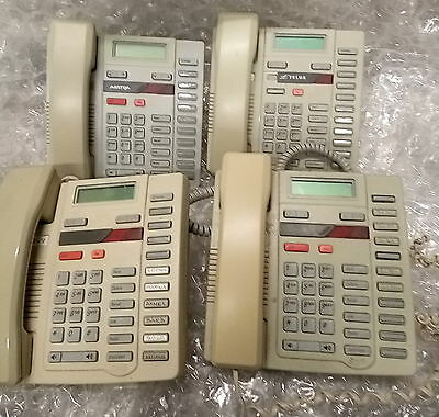 - LOT OF 4  Aastra Nortel M9216 Business Phone NT2N10 W/STAND&HANDSET