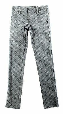 Tractr NEW Gray Girl's Size 16 Plaid Skinny-Leg Stretch Pants $54 #539 DEAL