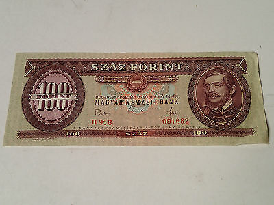 Hungary - 100 Forint Bill, Banknote, Currency, Paper Money 1968