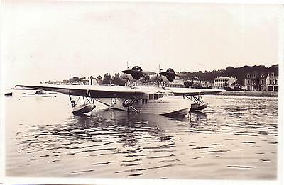 SARO FLYING BOAT airplane Cowes I.O.W saunders roe  RARE seaplane CLOUD Solent