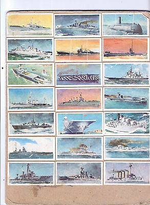 32+ Brooke Bond set tea cards shipping cigatette EAGLE ships around Britain '50s