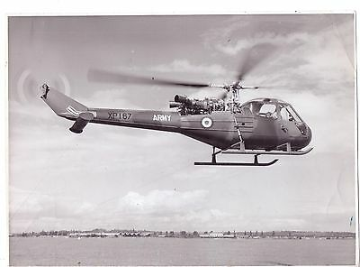 """8"""" SCOUT helicopter photograph army saunders Roe avaition"""