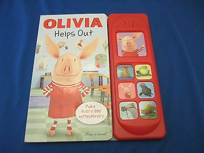Olivia the Pig Helps Out Play a Sound Book Sound buttons as  you read along
