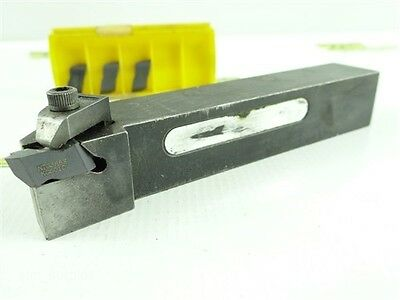 "Kennametal Indexable Top Notch Tool Holder Nsr-163D 1"" Shank +4 Carbide Inserts"