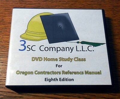 Oregon Contractors Reference Manual Study Course 2010 - Nine DVDs w/ CD-ROM Test