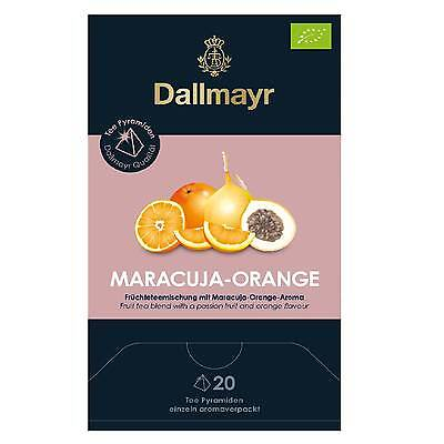 Dallmayr Tee Pyramiden Maracuja Orange Bio 20 x 4g