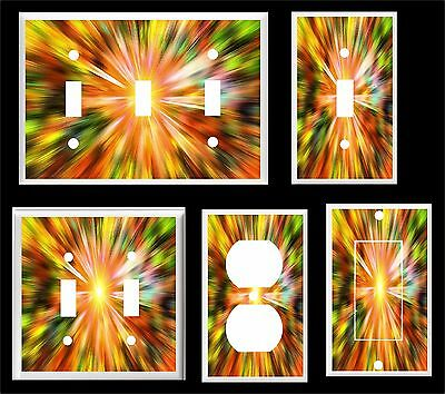 Abstract Color Explosion  Light Switch Cover Plate       Made In Usa