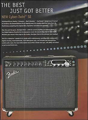 The Fender Cyber Twin SE Series guitar amp ad 8 x 11 amplifier advertisement