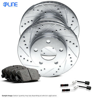Rear Drill Slot Brake Rotors And Ceramic Pads For Mercedes Benz CL500 S350 S430