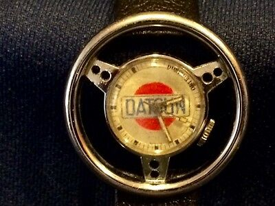 RARE Vintage Datsun Japan Japanese Car Steering Wheel Watch with Original Band