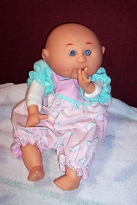 """HTF 1990 Vintage UNEEDA Thumb Sucker Pellet Weighted Body 13"""" Tall Baby Doll GUC"""