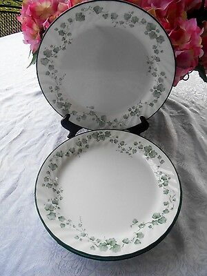 "6 Corelle Corning Ware CALLAWAY Green Ivy 10 1/4"" Dinner Plates"