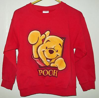 Disney Catalog Child Size Med 7/8 Winnie The Pooh Sweatshirt Red Made in USA