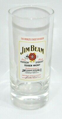 JIM BEAM BOURBON WHISKY Verre tube grand diamètre 25 cl NEUF