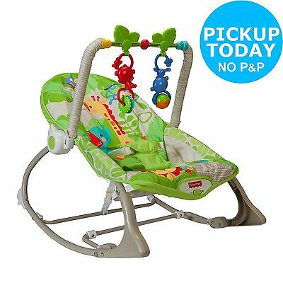 Fisher-Price Rainforest Infant to Toddler Rocker- Brown/Green-From Argos on ebay