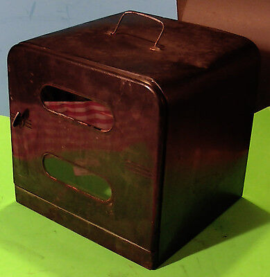 Antique Vintage Portable Metal Stove Top or Campfire Camping Toaster Pie Oven