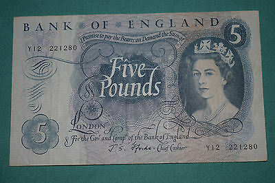 A J Fforde £5 Five Pound Banknote - Clean but circulated - Gapfiller Y12 22128