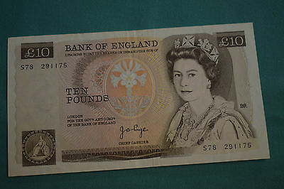 A J B Page £10 Ten Pound Banknote - Cleanish - S78 291175