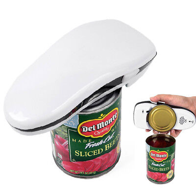 One touch automatic electric can tin opener no hands battery operated