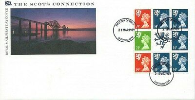 The Scots Connection Booklet Pane Fdc Dartford Postmark 21-3-1989
